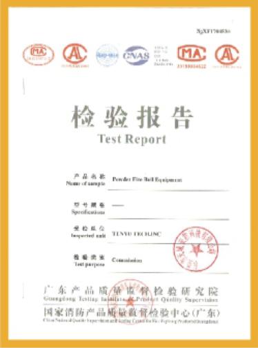 国家消防检测报告